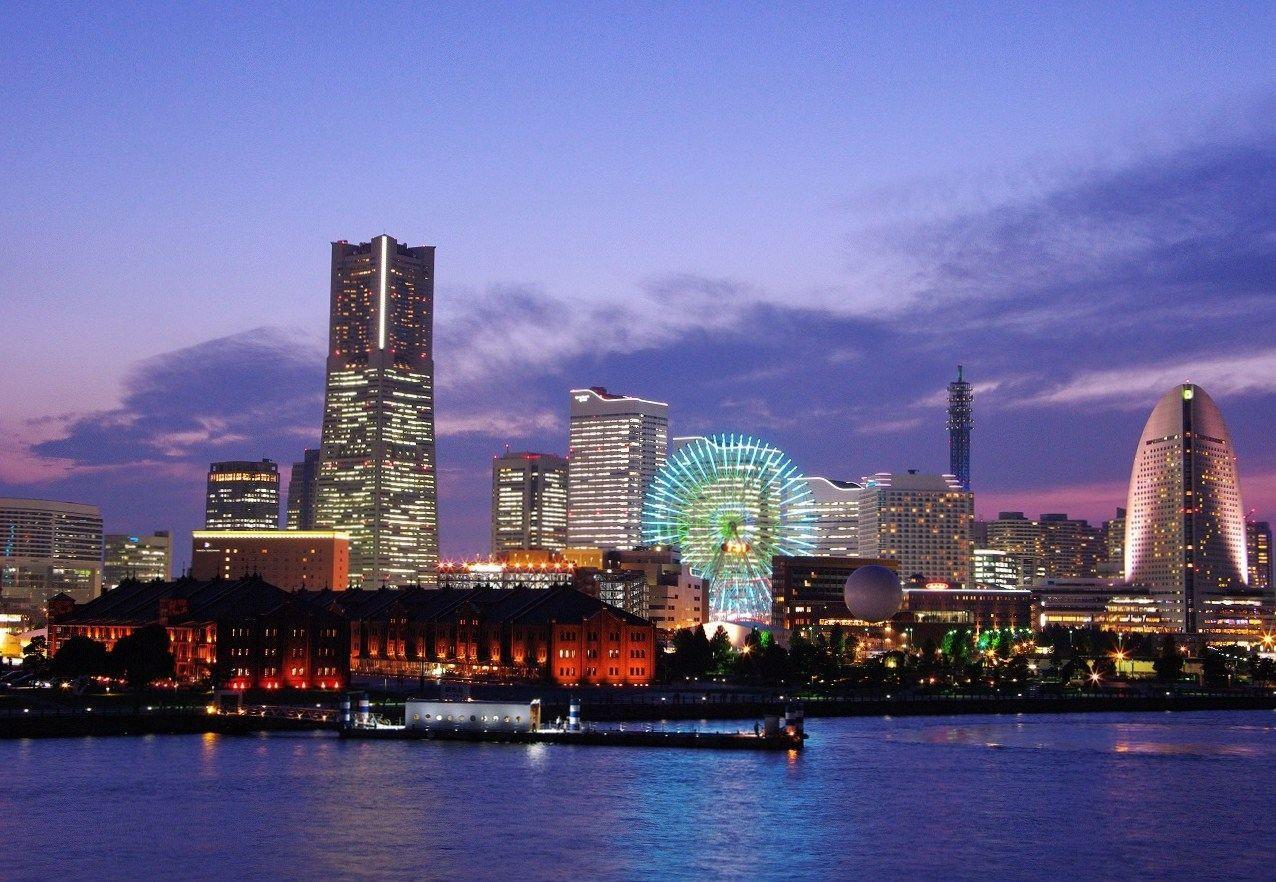 横浜,みなとみらい,夜景,インターコンチネンタル,観覧車