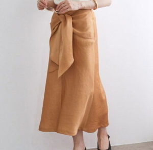 ROPE' mademoiselle,【前後2WAY】フロントノットマーメイドスカート