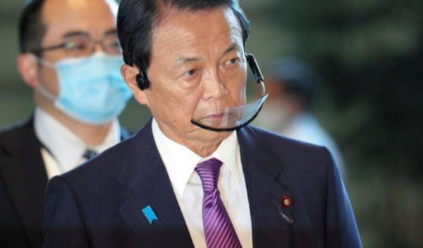 麻生太郎,透明マスク,ヘッドセットマスク