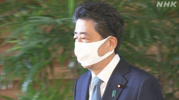 安倍首相,マスク,辞任会見
